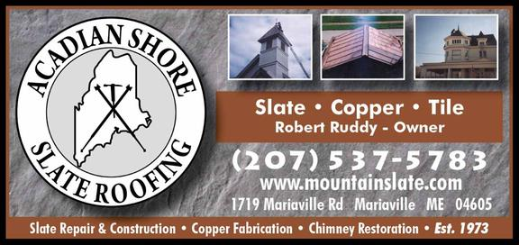Acadian Shore Slate Roofing