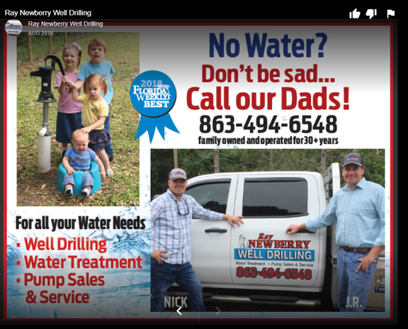 Newberry Ray Well Drilling Pump Sales & Water Treatment | Arcadia